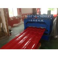 China Construction Metal Glazed Steel Roof Tile Roll Forming Machine High Speed Making on sale