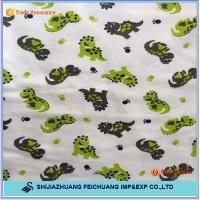 cotton brushed printed flannel fabric for blanket Manufactures