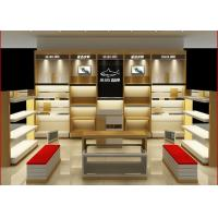 Customized Size Shoe Store Display Shelves For Boutique Brand Shoes Shop Manufactures