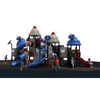 Attractive children used outdoor playground equipment with climber slide Manufactures