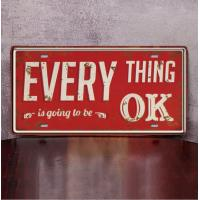 Every thing is ok Letter Car Garage Vintage Metal Tin Signs Decorative Bar Garage Cafe Wall Plaque Poster Iron Plate Manufactures