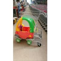 Cartoon Kids Supermarket Shopping Trolley With Toy Car And Baby Seat Manufactures