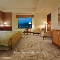 Multi level loop bamboo pattern brown carpet for five star hotel room Manufactures