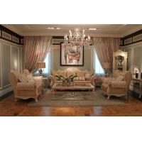 Luxury French-type Sofa set made by Wooden Carving Frame with Fabric Upholstery Manufactures