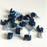 ABS Circle Drop Wire Cable Clip Wire Round Clip With Concrete Nail 2.5*18mm Manufactures
