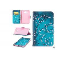 Cherry Blossom Card Pocket Phone Case , Pu Leather Phone Cases For Huawei Manufactures