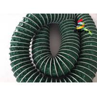 Eco - Friendly Green High Temperature Flexible Duct , PVC 10 High Pressure Flex Duct Manufactures