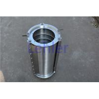 China SS316L Hydraulic Filter Element , Wire Mesh Filter For Pulp / Paper Industry on sale
