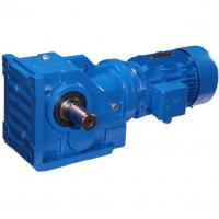 K Series Helical Bevel Gear Motor Speed Reducer  Blue Cast Iron Gear Box Manufactures