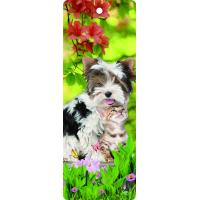 Custom Lovely Dog Lenticular 3D Animal Bookmarks With Tassel For Gifts And Souvenirs Manufactures