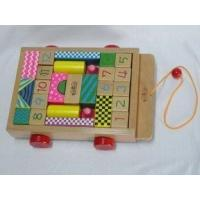 Baby Tractor Triangle / Half Round / Rectangular Beech Childrens Wooden Building Blocks Manufactures