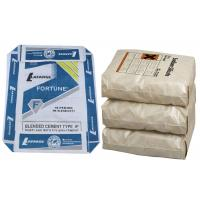 China PP Recycled Cement Bags PP Woven Bag For Cement 50 Kg Block Bottom on sale