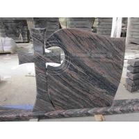 China Aurora Granite Cross Headstones , Graveside Monuments Headstones Heat  Proof Manufactures
