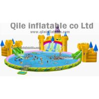 double water pool with slides,inflatable water sports,inflatable swimming toys Manufactures