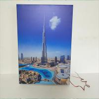 China A4 Wall Mounted / Table LED Light Box Display Stand Crystal Photo Frame on sale