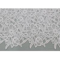 Water Soluble Embroidered Polyester Lace Fabric With Floral Lace For Dress Designer Manufactures