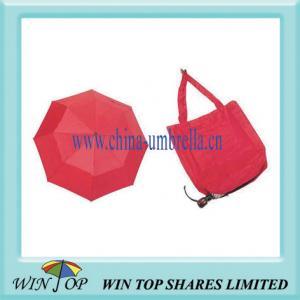 China 3 Folding Red Tote Bag Umbrella on sale