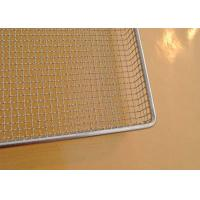China 304 SS Perforated Wire Mesh Tray Light Weight With Grit Blasting , 100cm*50cm*20cm on sale
