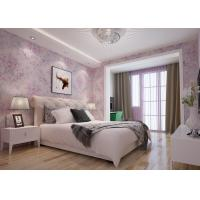 Beautiful Floral Pattern Country Style Wallpaper Embossed for Bedroom 0.53*10M Manufactures