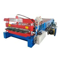 Full Automatic Iron Roofing Sheet Roll Forming Machine , Cold Roofing Rolling Machine Manufactures