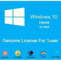 Computer hardware Microsoft Windows 10 home dvd COA sticker 100% Activation 64bit DVD win10 home License Key Code Manufactures