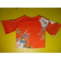 Floral Printing Womens Loose Fitting Tops Flare Sleeves Round Neck 100 Silk Blouse Manufactures