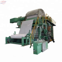 China Pulp 380V 1760mm 100t Toilet Roll Making Machine on sale