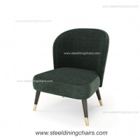 China Velvet Upholstered 78cm Armless Iron Green Accent Armchair on sale