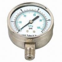 China Boiler Pressure Gauge, Used in Petrochemical and Food Industry on sale