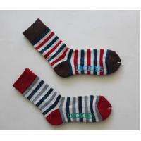 China Anti Bacterial Long Toddler Striped Tube Socks With Needle 168N / 144N / 128N on sale
