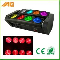 DMX512 RGBW 4in1 8 Eyes Spider Beam LED Moving Head Light / Rotating Stage Light Manufactures