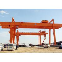 Heavy Duty Double Girder Gantry Crane Electric For Loading Unloading High Strength for sale