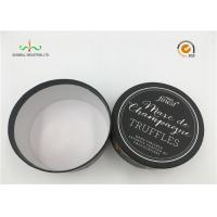 White Cardboard Cylinder Containers For Facial Cream / Cosmetic Tube Packaging Manufactures