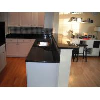 China Engineered Granite Tile Kitchen Countertops , Dark Granite Veneer Countertops on sale