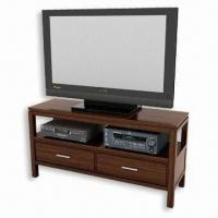 Ellipical Swivel TV Console, Made of MDF and PE with Zebra Veneer, Various Designs are Available Manufactures