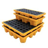 China CE Drum Spill Containment Pallet for Chemical Storage , 2 Drum Tank Safety Spill Containments on sale