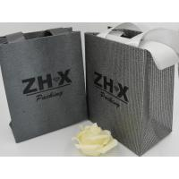 China Iron Metallic Fabric Carry Bags , Multipurpose Unique Fabric Bags With Logo on sale