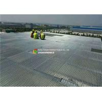 Hot Dipped Galvanized Serrated Grating3' × 20' Size Bright Surface For Stairs Manufactures