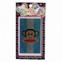 Mobile Phone Diamond/Crystal Sticker, Safe and Non-toxic Manufactures
