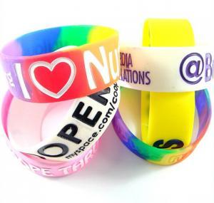 China Colorful Wristbands Sports Silicone Bracelets Rubber Band Bracelet on sale
