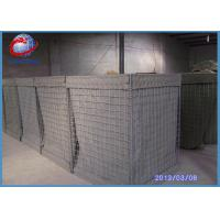 High Tensile Military  Hesco Barrier Welded Gabion Box Gabion Mesh Cage For Anti Flood Manufactures
