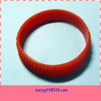 Buy cheap new style cool rainbow tire silicone wristband custom wristband cheap from wholesalers