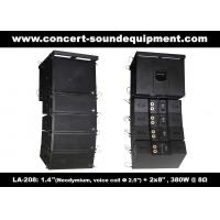 "480W Compact Double 8"" Line Array Speaker For Installation , Church , Conference, Nightclub Manufactures"