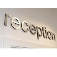 Company Stainless Steel Sign Letters Not Rust Lightweight With Metallic Texture Manufactures
