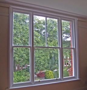 ISO Single Double Hung Window High Security Aluminium Double Glazed Sash Windows In Ventilation Control
