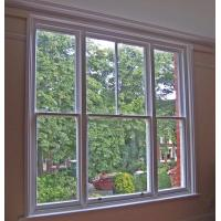 Quality ISO Single Double Hung Window High Security Aluminium Double Glazed Sash Windows In Ventilation Control for sale