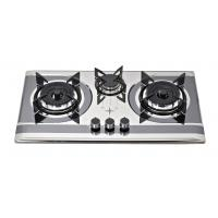 Buy cheap Stainless Steel SS 3 Burner Gas Cooker With Round Enamel Grill from wholesalers