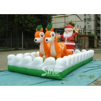 Outside Christmas Inflatables Jingle Bells / Father And Reindeers Running Together Manufactures