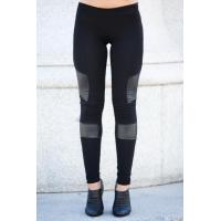 China Black Women'S Fashion Leggings PU Leather Leggings 92% Cotton 8% Spandex on sale