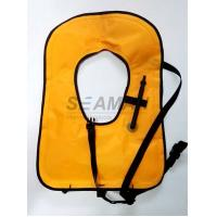 Neon Yellow Free Diving Inflatable Life Vests Buoyancy Snorkel Vest Water Safety Vest Manufactures